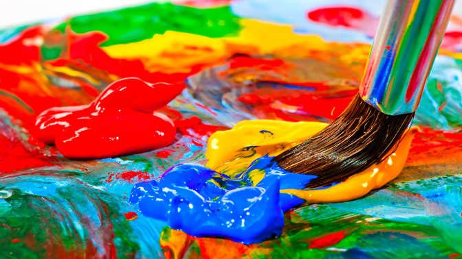 Краски, как инструмент юного художника